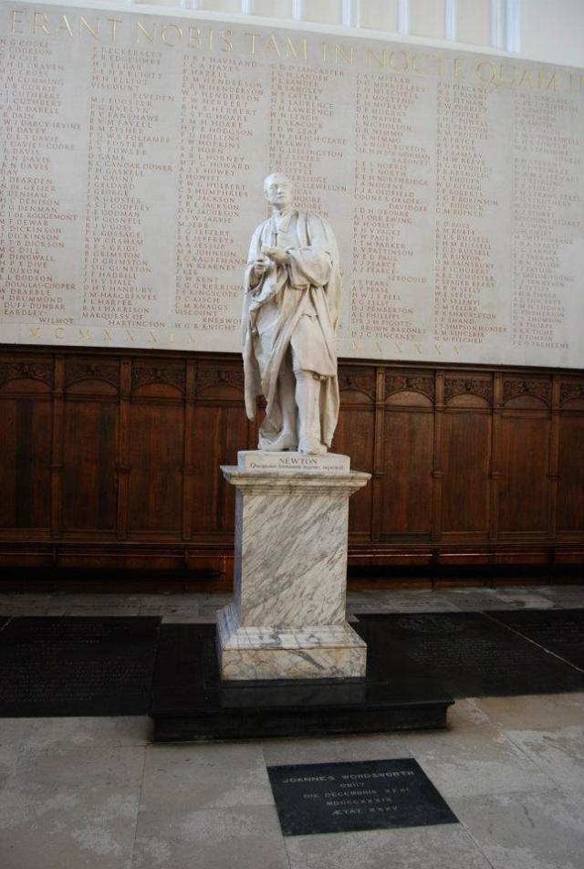 Trinity College Chapel - Statue of Newton